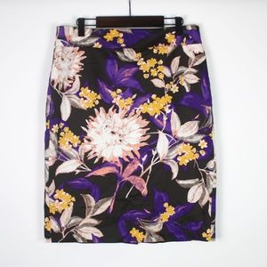 ANN TAYLOR Floral Pencil Skirt 6